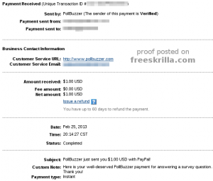 Pollbuzzer Payment Proof